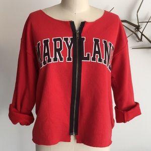 Karen Zambos deconstructed Maryland sweatshirt
